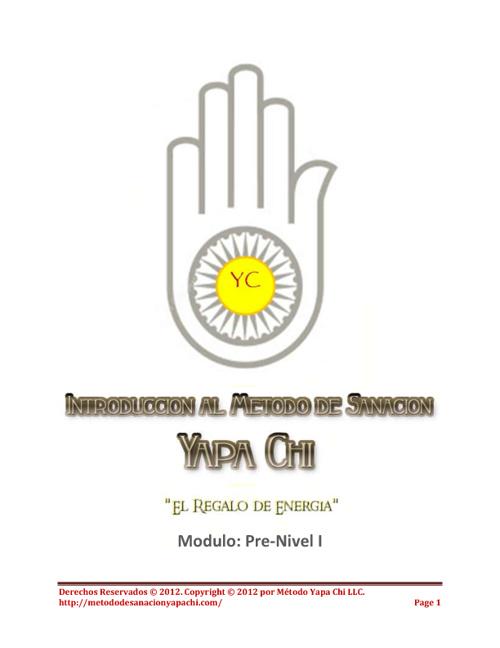 Modulo 2 Curso Pre-Nivel I Yapa Chi
