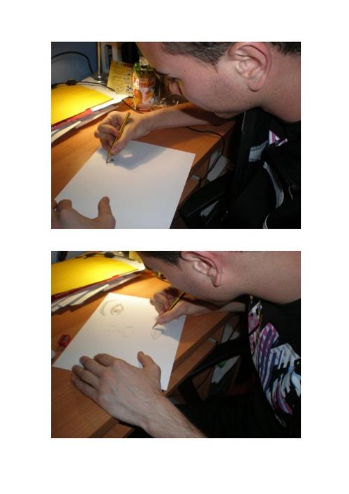 Dibujo de las partes de la cara