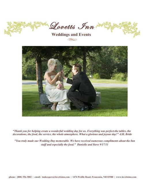 Lovetts Inn Wedding Guide