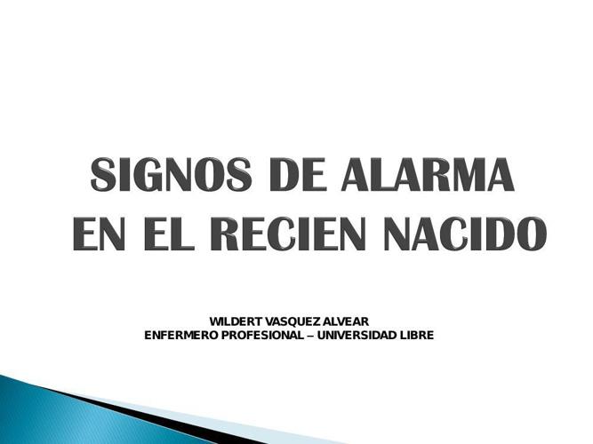 3. SIGNOS DE ALARMA EN EL RECIEN NACIDO