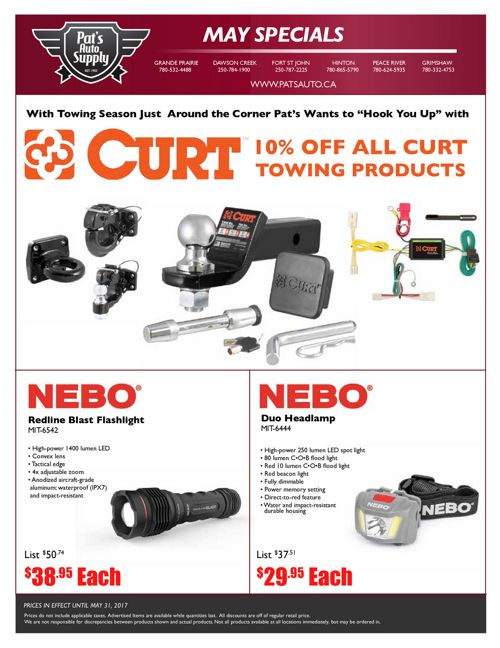 Tools & Equipment Flyer - May 2017