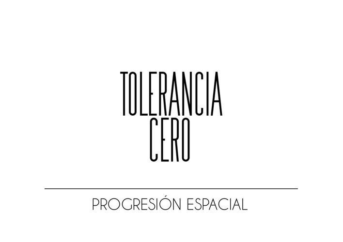 PROGRESION ESPACIAL TOLERANCIA