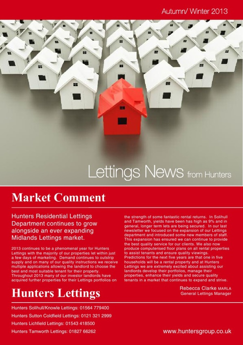 Hunters - Lettings News