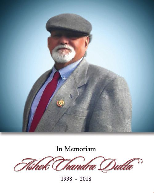 Memorial Card: Ashok Chandra Dutta
