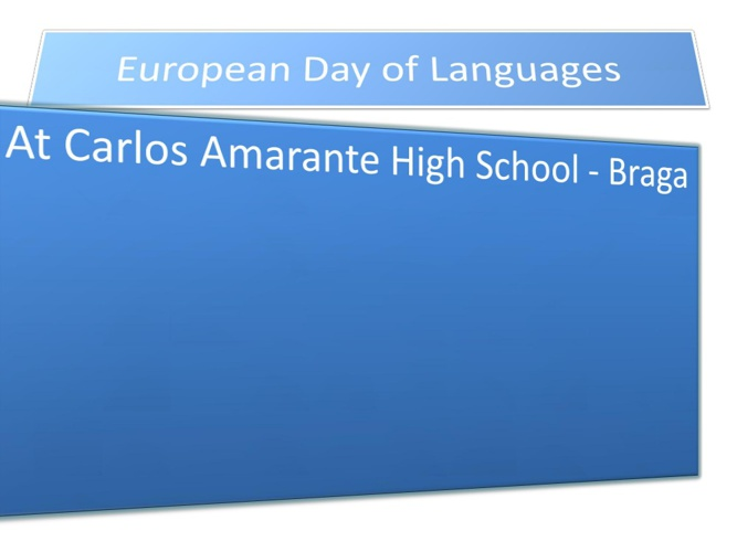 European Day of Languages  - 2013