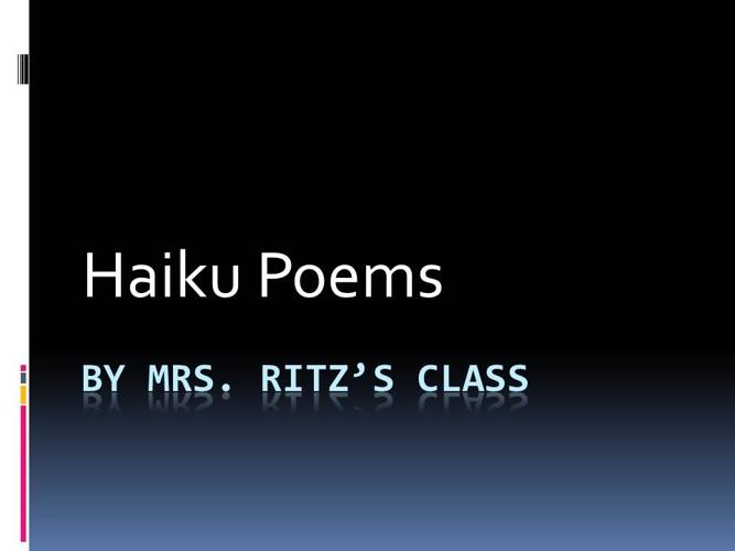 Haiku Poems Ritz