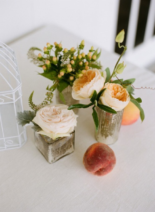 W Reception - Centerpiece Flower Inspirations