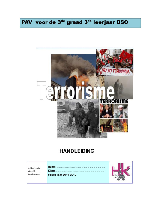 Thema: terrorisme - handleiding