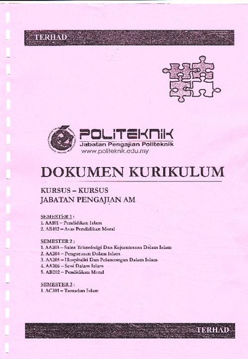 DOKUMEN KURIKULUM JPAM