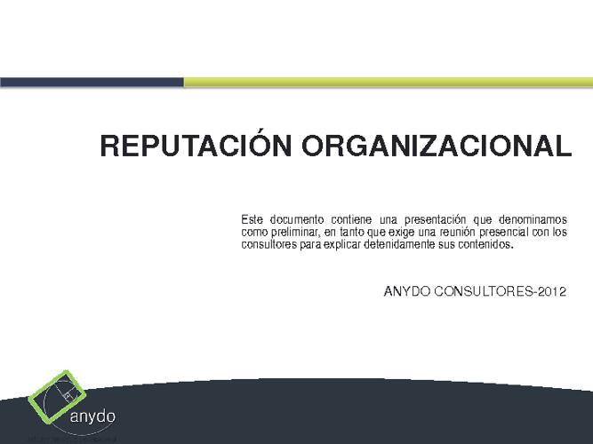 Reputación Organizacional