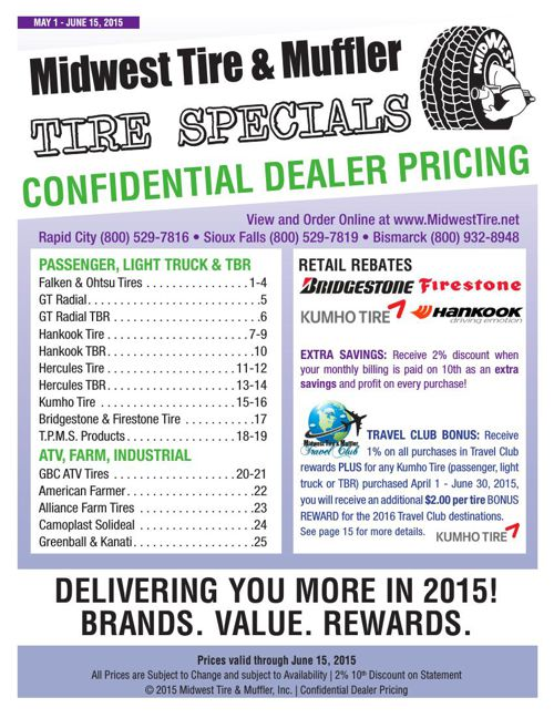 May 2015 Tire Specials