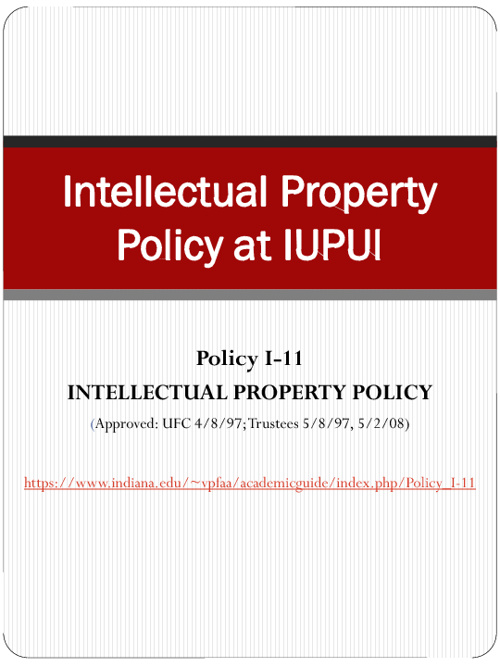IP Policy IUPUI
