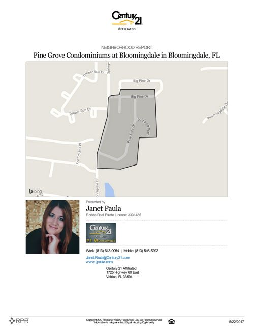 Neighborhood Report for Pine Grove Condominiums