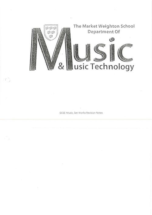 TMWS Music Set Works Detailed Study