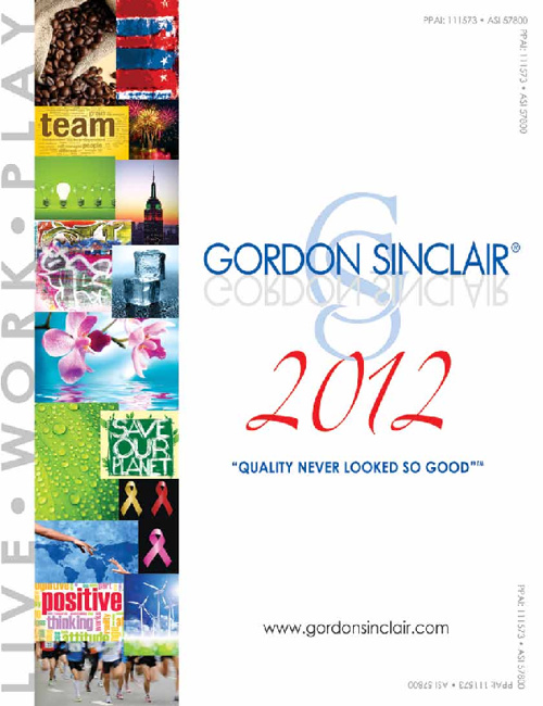 Gordon Sinclair 2012 Catalog