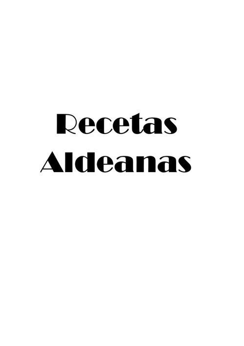 Recetas Aldeanas