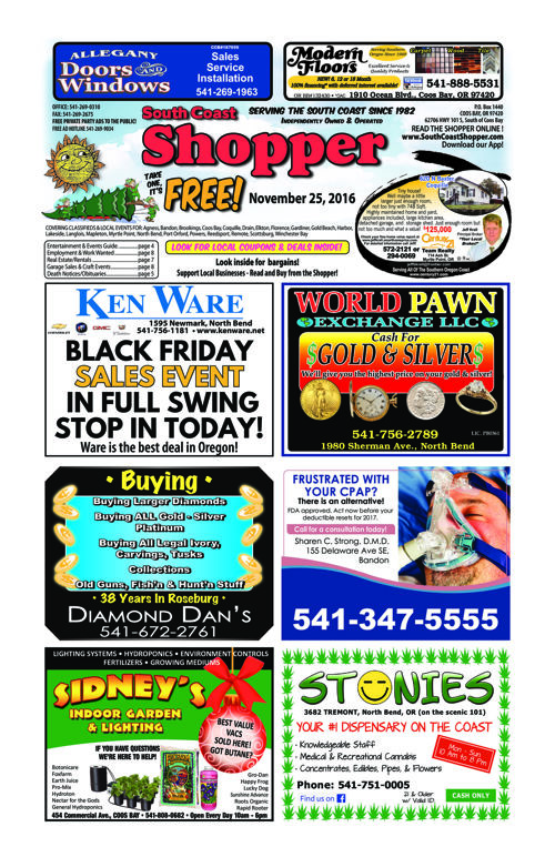 South Coast Shopper e-Edition 11-25-16