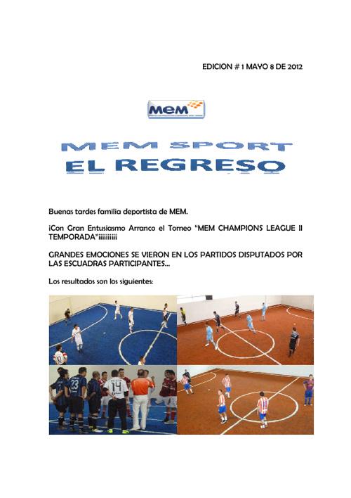 MEM SPORTS 2012 EDICION # 1