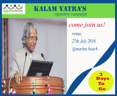 kalam yatra's signature  campaign