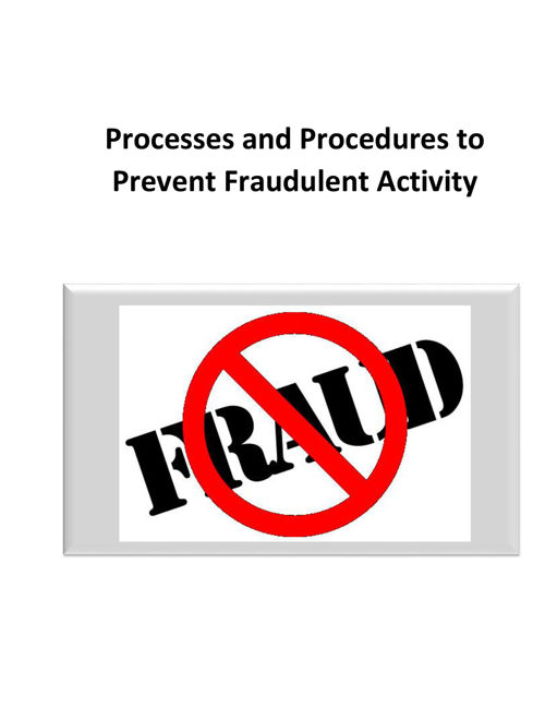 Process and Procedures for Fraud