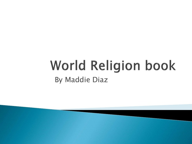 World Religion Book Project