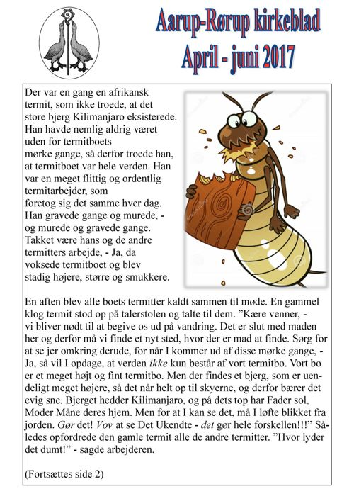 Kirkeblad april-juni  Aarup-Rørup 2017
