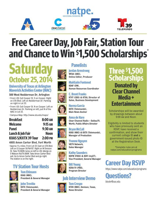 Free Student Career Day, Job Fair, Station Tour and Chance to Wi