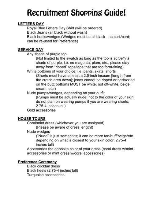 Recruitment Shopping Guide