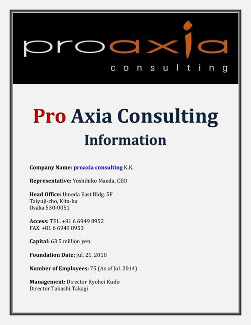 Pro Axia Consulting Information
