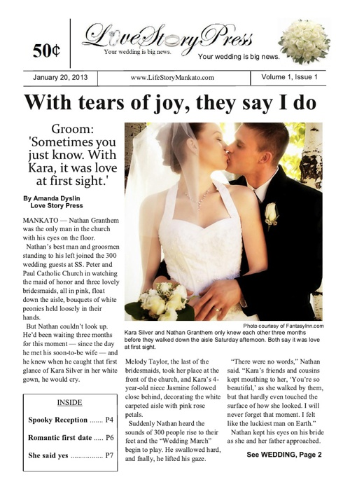 Eight-page Wedding Sample