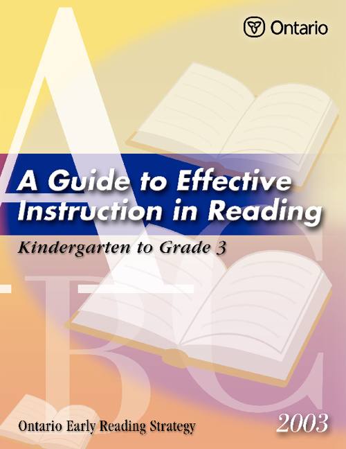 Guide to Effective Instruction in Reading K-3