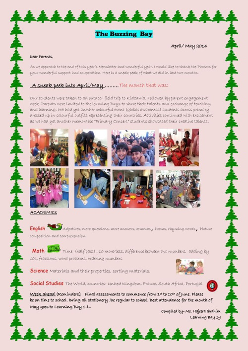 Copy of Year 1 Newsletter