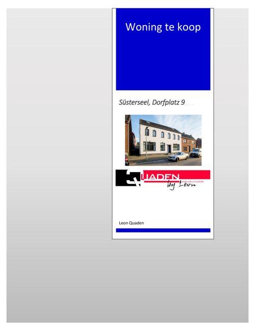 Quaden Makelaars Nederland - Duitsland Susterseel Dorfplatz 9 BO