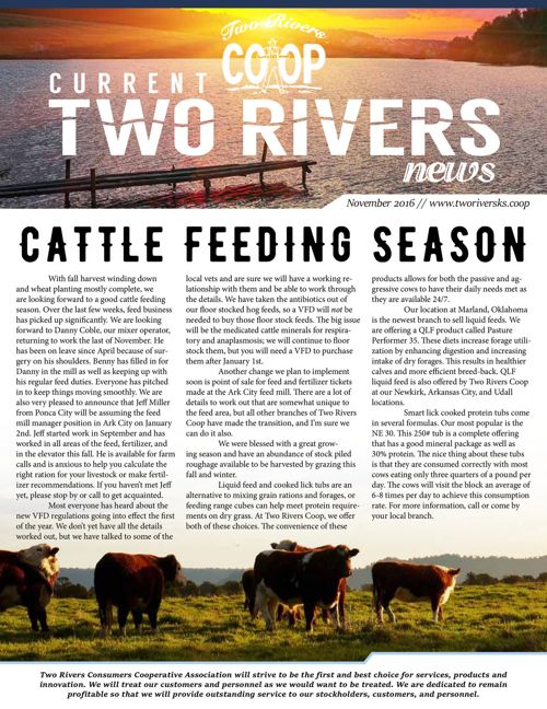 Current Two Rivers News | November 2016