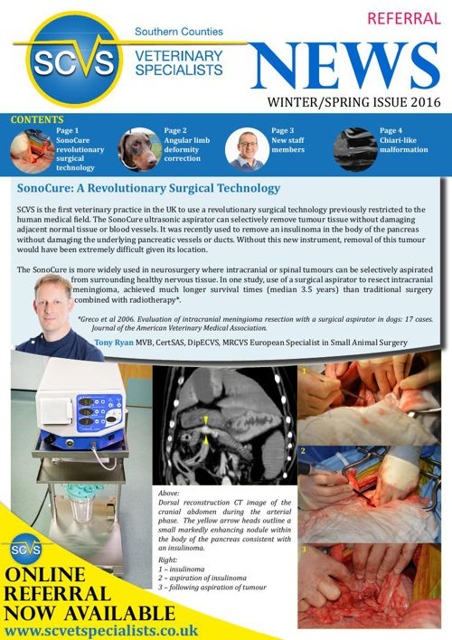 Veterinary Referral Newsletter Spring/Winter 2016