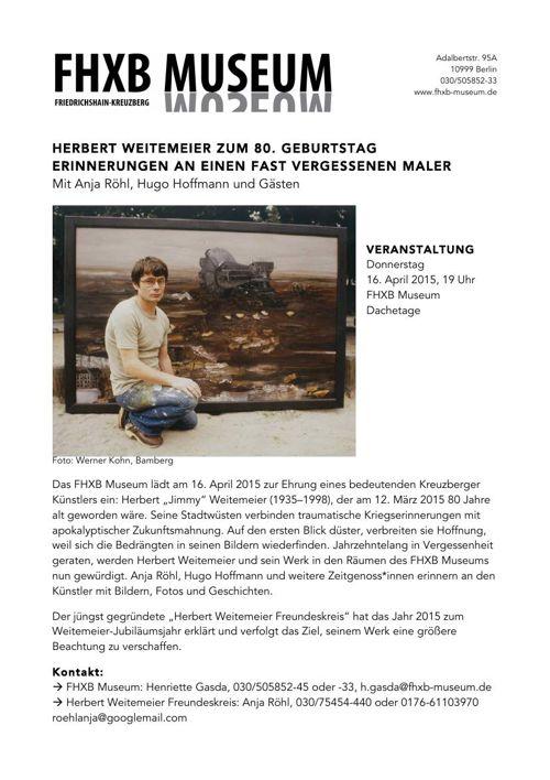 Pressemitteilung Veranstaltung zu Ehren Herbert Weitemeier