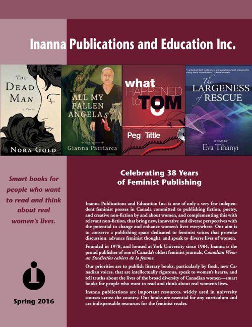 Inanna Publications spring 2016 trade catalogue