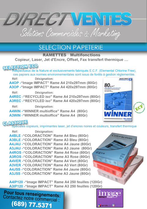 Catalogue numerique DIRECT VENTES Démo