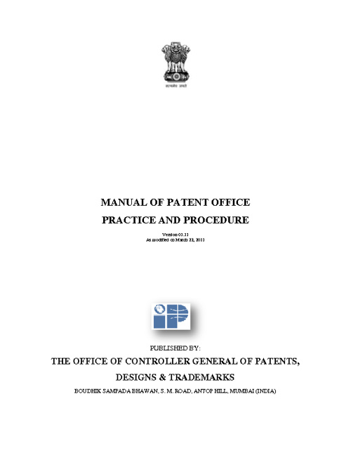 Manual of Patent