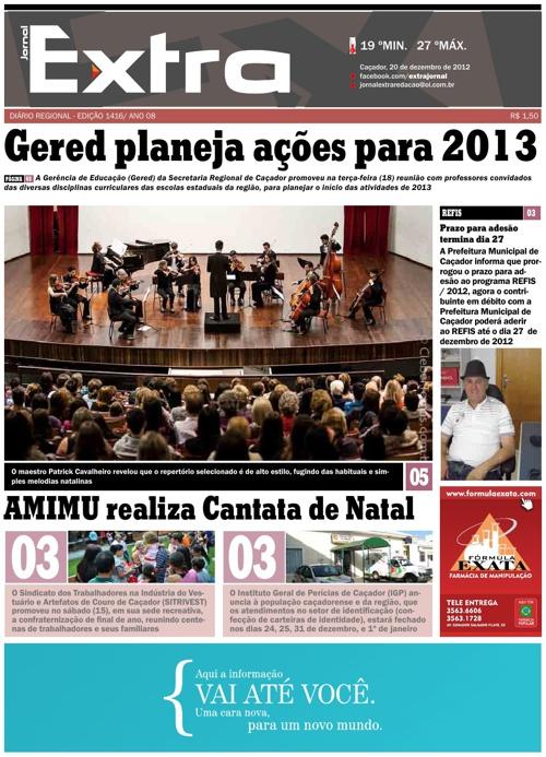 Jornal Extra 20/12/2012