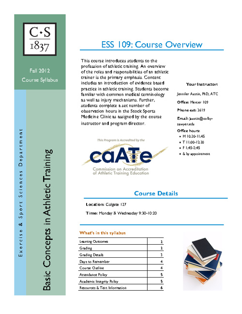ESS 109 Course Syllabus F12