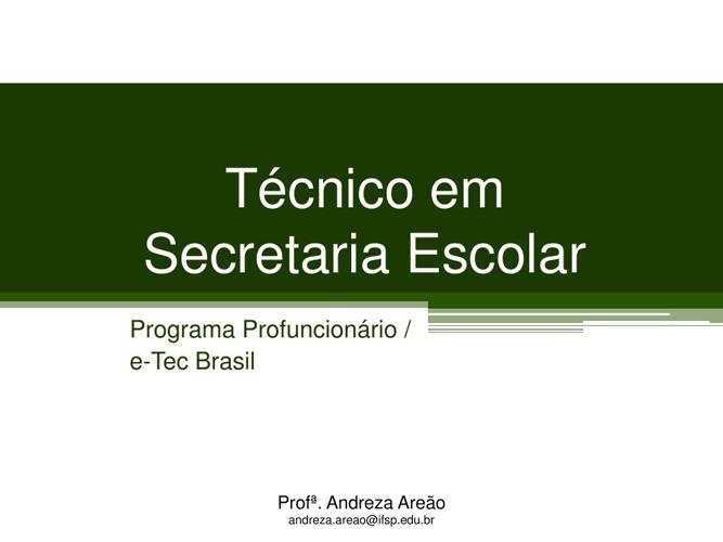 EADBook1 - Aula Inaugural Secretaria Escolar