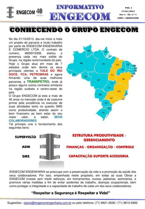 INFORMATIVO ENGECOM - JAN 2014