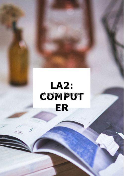 LA2: Computer System