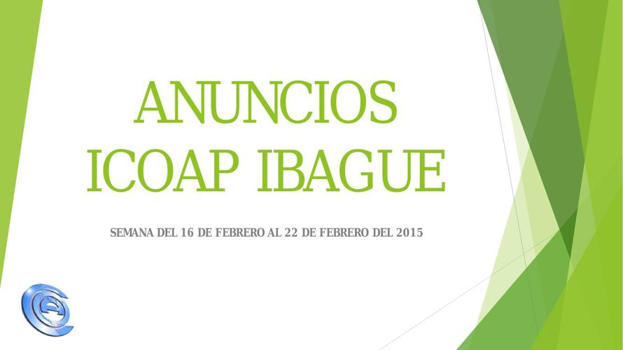 ANUNCIOS ICOAP IBAGUE 2