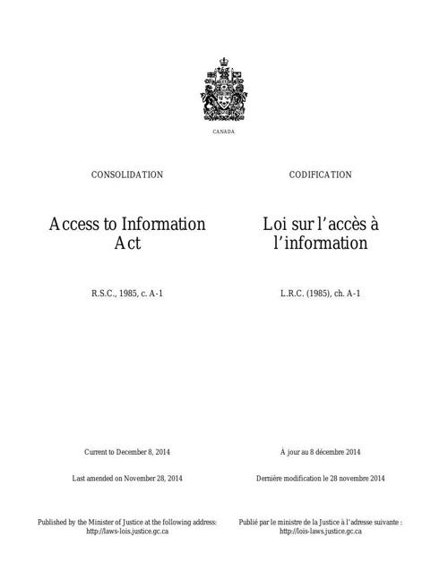 Loi sur l'accès à l'information
