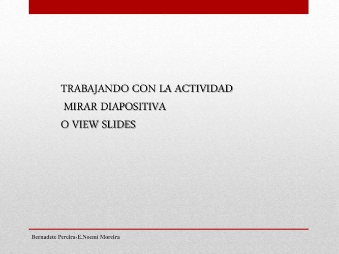mirar diapositiva