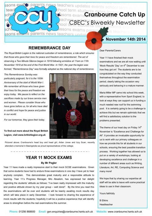 CCU - 14th November 2014