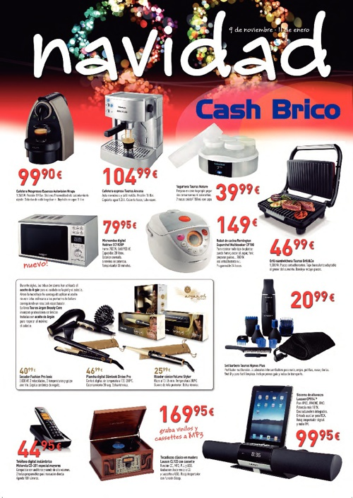 Catálogo de Navidad Cash Brico