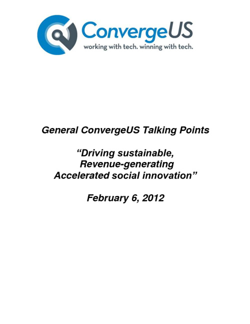 ConvergeUS Talking Points